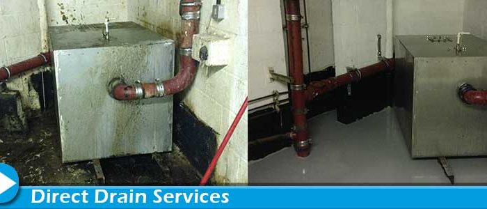 Unblocking and cleaning a grease trap
